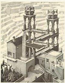 Рис. 29 Литография М. Эшера