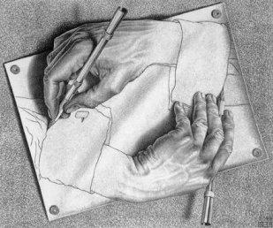 Рис. 31 Литография М. Эшера