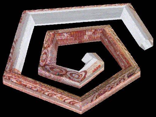 Рис. 10 Пример спирального многогранника в виде плоской спирали