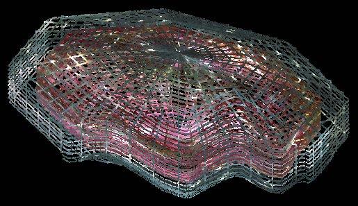 Рис. 7 Упрощенная форма Вселенной в виде многогранника с внутренней полостью