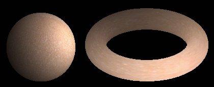 Шар и тор с отображеннием на их поверхности однородного и неконтрастного рисунка