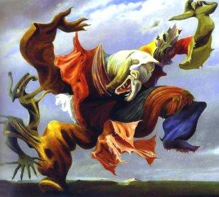 Рис. 4 Картина Макса Эрнста «Ангел очага или триумф сюрреализма»